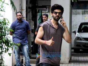 Kartik Aaryan snapped at the Maddock Films office