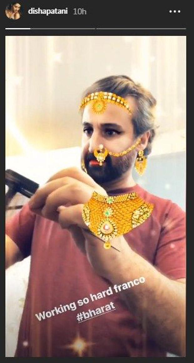 Pics Out: After Salman Khan, Disha Patani posts pics from the sets of Bharat