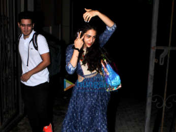 Sara Ali Khan snapped after yoga class in Bandra