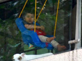 Taimur Ali Khan snapped on a swing