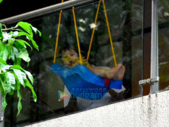 Taimur Ali Khan spotted enjoying on his swing