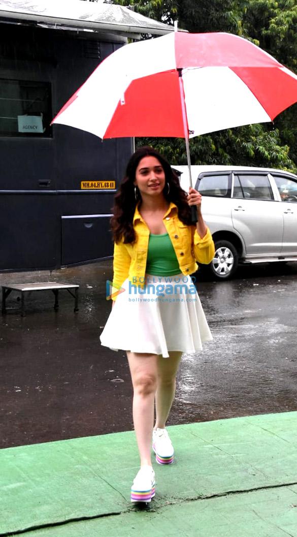 Tamannaah Bhatia snapped at an ad shoot at Filmcity (1)