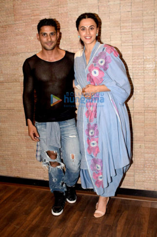 Taapsee Pannu and Prateik Babbar snapped at Mulk promotions