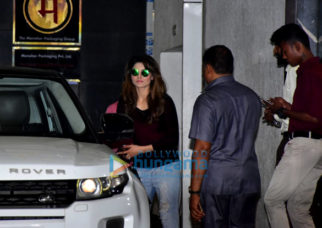 Urvashi Rautela snapped at Roy Kapoor Films' office