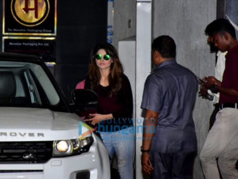 Urvashi Rautela snapped at Roy Kapoor Films' office