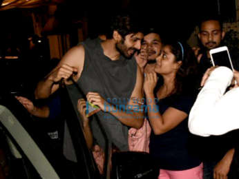 Varun Dhawan and Kartik Aaryan snapped outside the gym