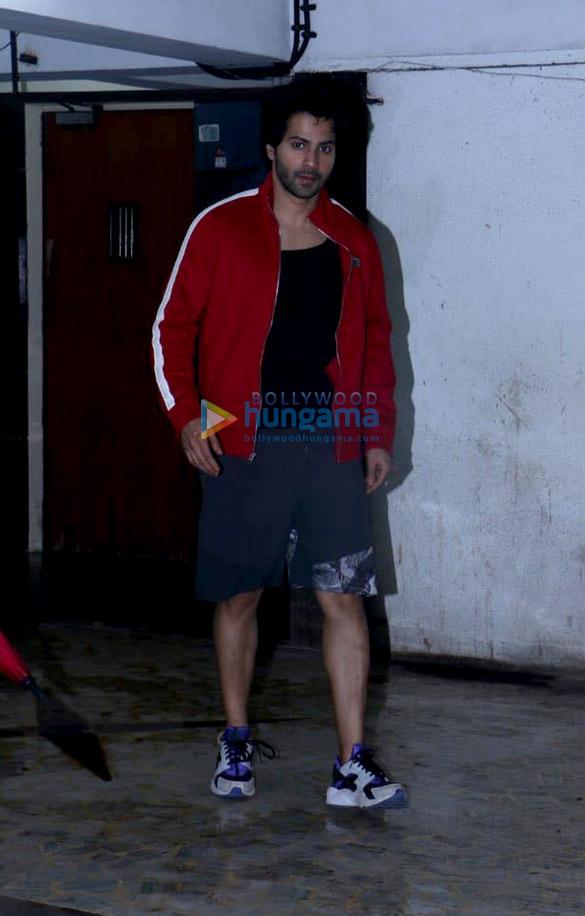 Varun Dhawan spotted at a clinic