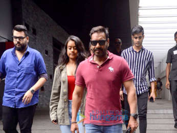 Ajay Devgn, Kajol and their daughter Nysa snapped in Bandra