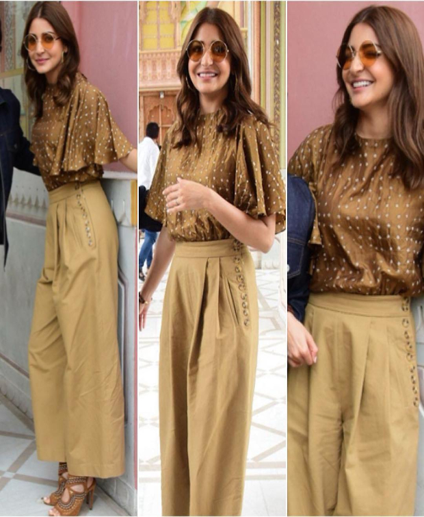 Anushka Sharma in Koashee and Zara for Sui Dhaga-Made in India promotions (1)