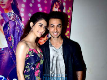 Ayush Sharma and Warina Hussain snapped promoting Loveratri at National College in Bandra