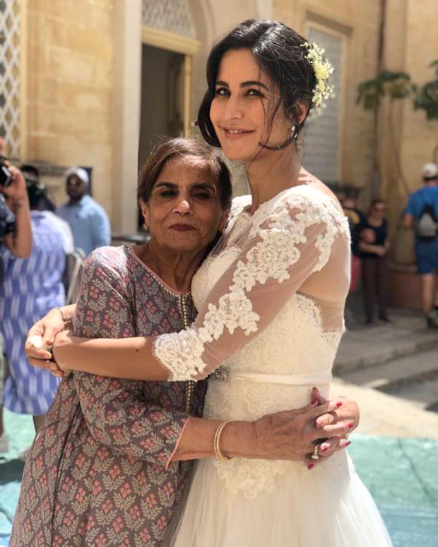 BHARAT: Katrina Kaif dresses up in bridal wear, hugs Salman Khan's mom