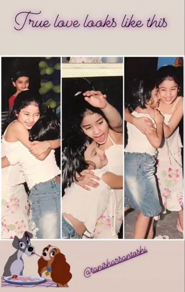 Janhvi Kapoor shares a picture with her BFF Tanisha Santoshi and shows what true love is