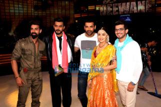 John Abraham promotes his film Satyameva Jayate on the sets of Dance Deewane