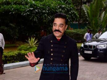 Kamal Haasan snapped promoting his film Vishwaroopam 2 on sets Indian Idol 10