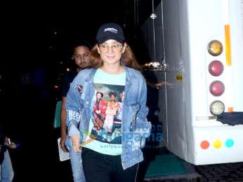 Kangana Ranaut spotted after shoot of 'Mental Hai Kya' in Bandra