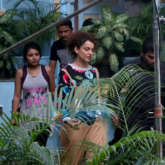 Kangana Ranaut spotted at Bandra for movie shoot 'Mental Hai Kya'