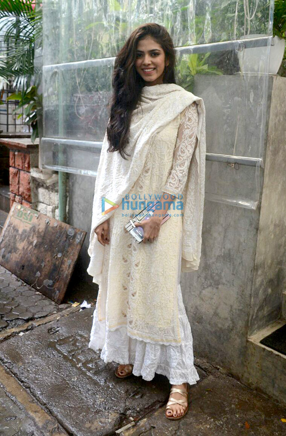 Malavika Mohanan snapped at Kitchen Garden in Bandra