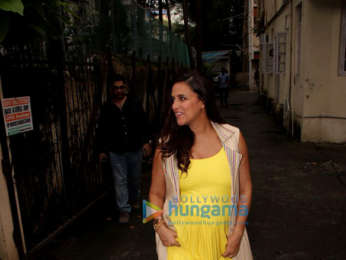 Neha Dhupia, Elli Avram, and Evelyn Sharma snapped in Bandra