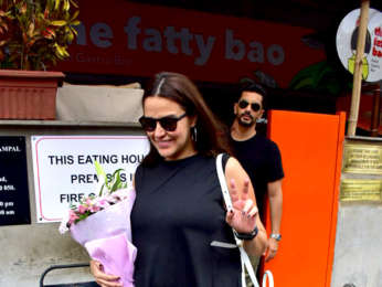 Neha Dhupia and Angad Bedi snapped after lunch at Sequel in Bandra