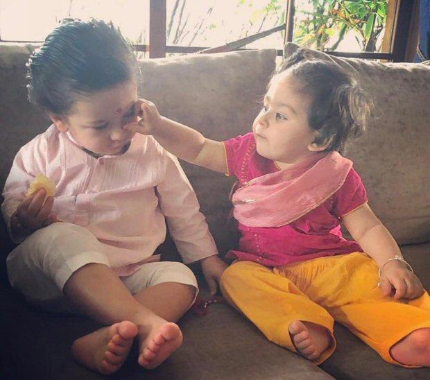 Rakshabandhan 2018 Sara Ali Khan, Ibrahim Ali Khan celebrate Rakhi with little ones Taimur Ali Khan and Inaaya Naumi Kemmu-