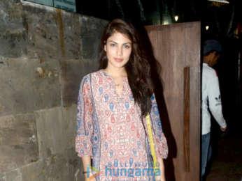 Rhea Chakraborty and Pulkit Samrat snapped at Indigo in Bandra