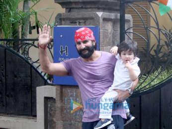 Saif Ali Khan And Taimur Ali Khan spotted in Bandra