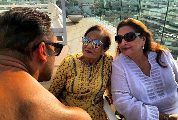 Salman Khan can't help but get all mushy in presence of momma Salma Khan on Bharat sets