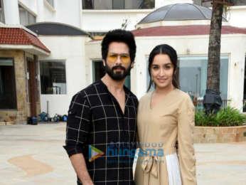 Shahid Kapoor and Shraddha Kapoor snapped promoting their film Batti Gul Meter Chalu