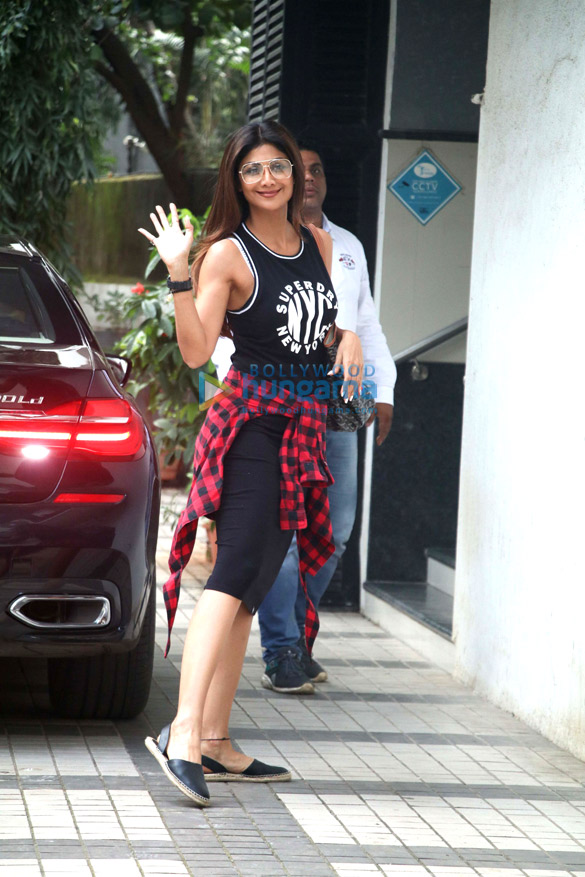 Shilpa Shetty spotted outside a clinic in Bandra