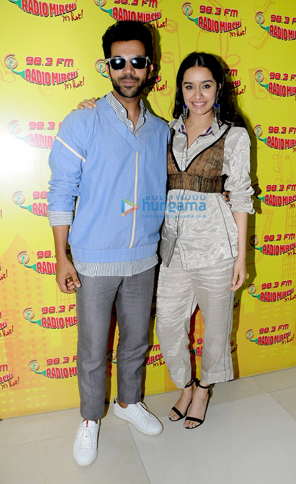 Shraddha Kapoor and Rajkummar Rao snapped promoting Stree at the 98.3 FM Radio Mirchi office