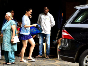 Shraddha Kapoor snapped after badminton practice in Khar