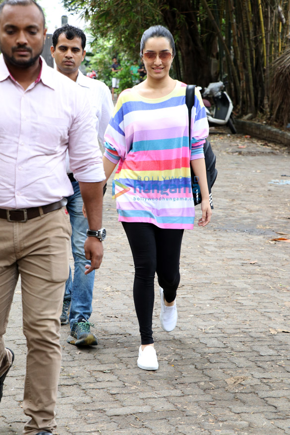 Shraddha Kapoor snapped at Sunny Super Sound in Juhu