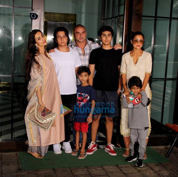Sohail Khan, Malaika Arora and Amrita Arora snapped at Arpita Khan Sharma's house for Rakshabandhan