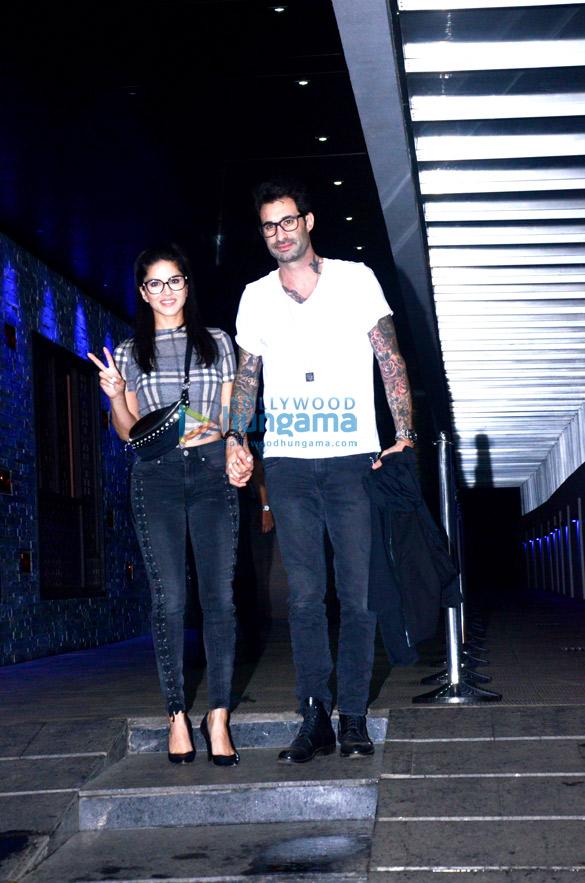 Sunny Leone and Daniel Weber spotted at Hakkasan in Bandra
