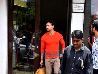 Tiger Shroff and Disha Patani spotted at Bastian in Bandra