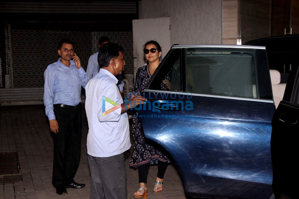 Vidya Balan snapped post a dubbing session