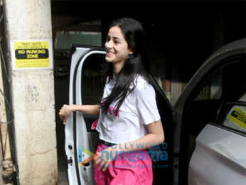 Ananya Pandey spotted at dance class in Juhu