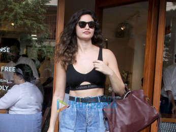 Arjun Rampal and Gabriella Demetriades spotted at Sequel Cafe in Bandra-