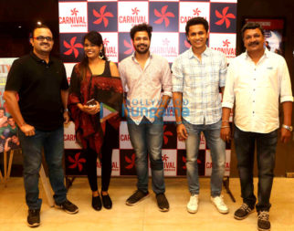 Cast of the Marathi film 'Party' snapped promoting their movie