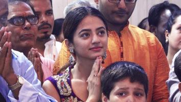 Helly Shah spotted at Andheri cha Raja Ganpati pandal
