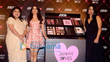 Janhvi Kapoor snapped at Nykaa launch event