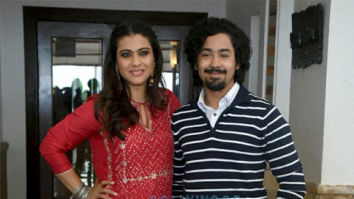 Kajol snapped during Helicopter Eela promotions
