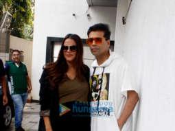 SPOTTED:Neha Dhupia & Karan Johar before the recording of NoFilterNeha Season 3