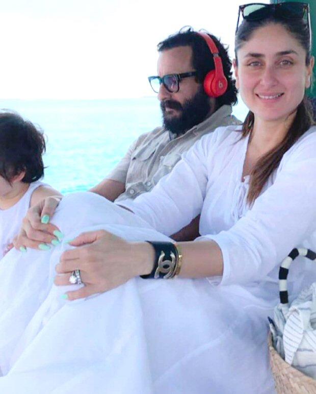 Kareena Kapoor Khan, Saif Ali Khan and Taimur Ali Khan make it a family affair while chilling in Maldives