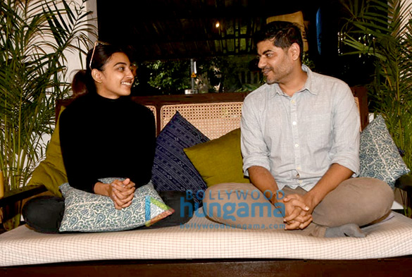 Radhika Apte and Atul Mongia snapped at a shooting of masterclass show