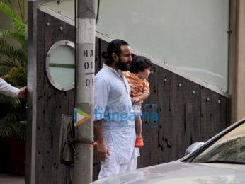 Saif Ali Khan, Taimur Ali Khan, Soha Ali Khan, Inaaya and Sharmila Tagore snapped at Saif's house
