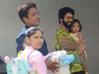 Shahid Kapoor spotted with Misha Kapoor at Hospital