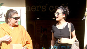 Shruti Haasan spotted with her mother at Farmers' Cafe in Bandra