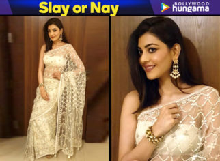 Slay or Nay - Kajal Aggarwal in Anita Dongre for an event