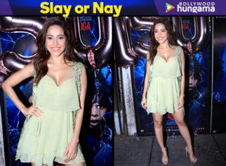 Slay or Nay - Nushrat Bharucha in Arpita Mehta for Stree success bash